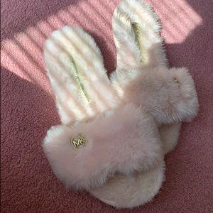 Michael Kors Faux Fur Slippers